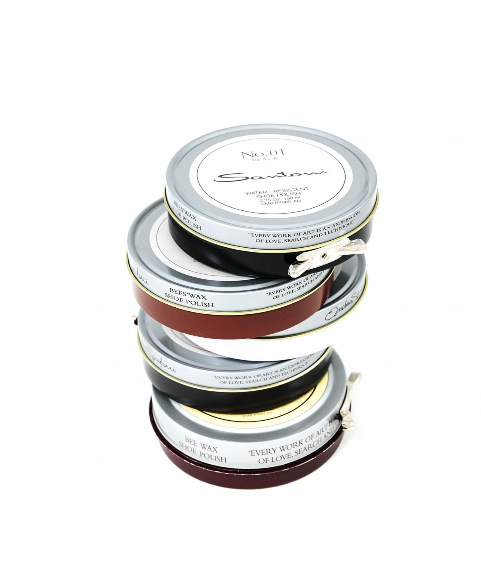 Santoni鞋油包用五种颜色