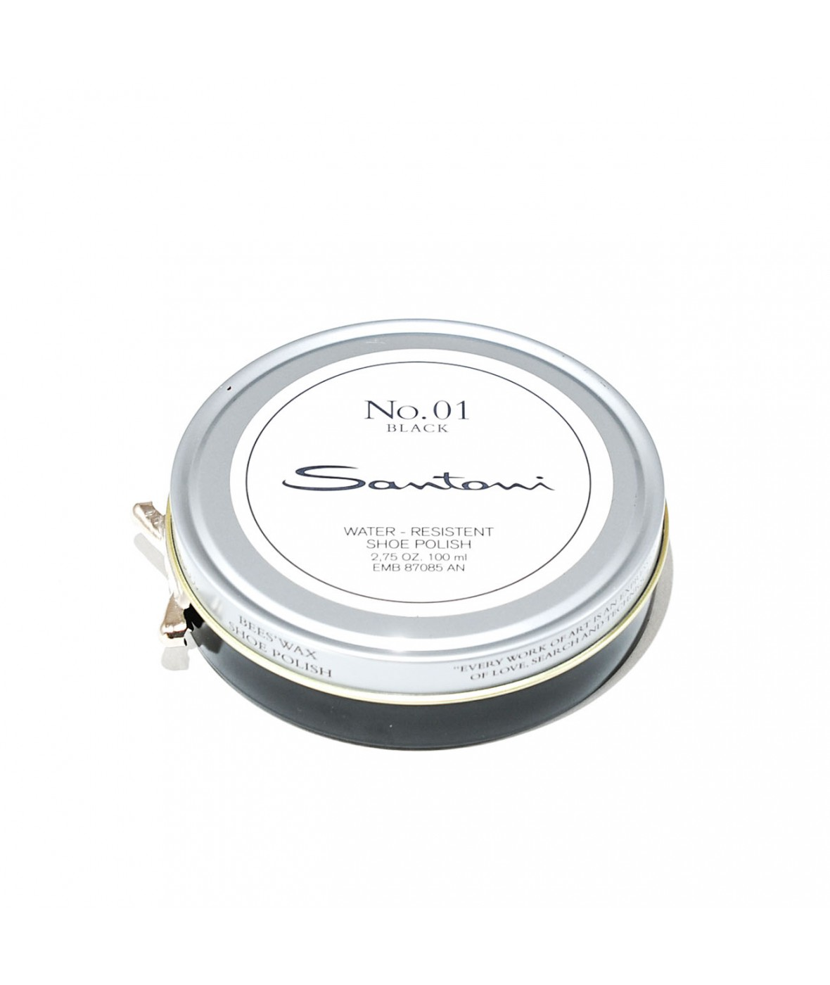 Santoni 蜂蜡鞋油 (黑色)