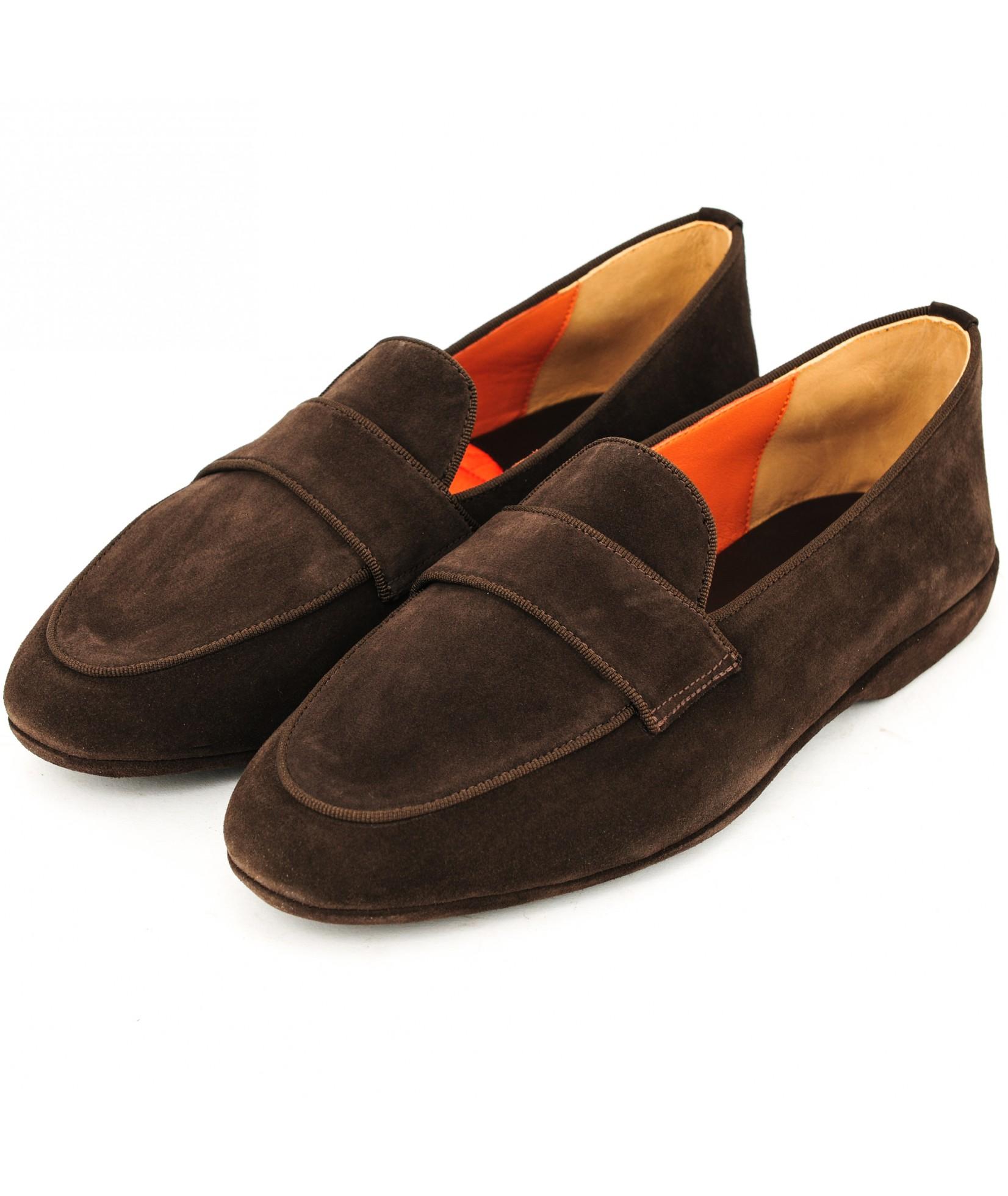 Santoni Pantofola 棕色 (31676)